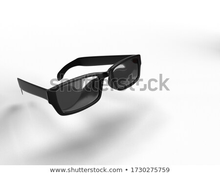three black glasses stock photo © pzaxe