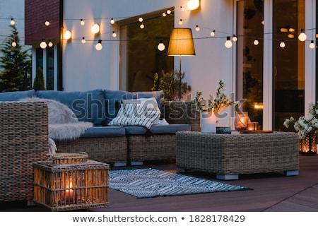 Casa quintal vizinhos céu primavera natureza Foto stock © silent47