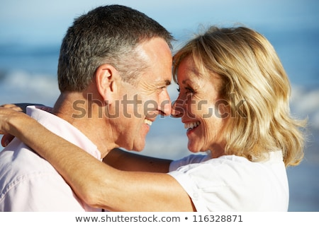 Senior couple hugging at the seaside Stock photo © photography33