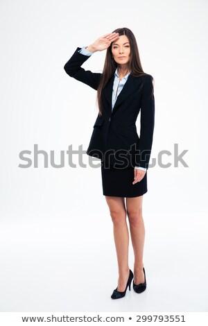 bela · mulher · isolado · branco · mulheres · beleza - foto stock © feedough