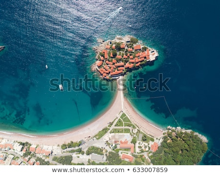 sveti stefan island resort in montenegro Stock photo © travelphotography