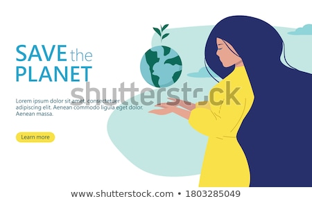 woman recycling and holding planet earth in her hands stock photo © photography33