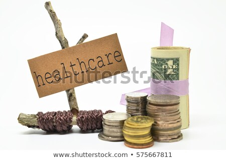 money on medicines isolated  Stock photo © OleksandrO