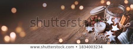 Сток-фото: искусственное · освещение · свечу · свечей · пламени · Рождества · праздников