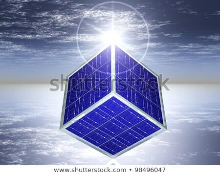Solar Cell Cube Сток-фото © njaj