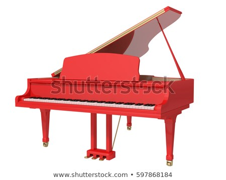 piano red and white Stock photo © mariephoto