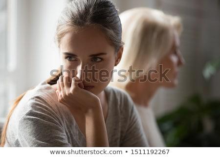 Argument · Foto · hübsche · Frau · schauen · jugendlich · Tochter - stock foto © roboriginal