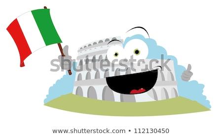 Funny italian flag wektora cartoon Zdjęcia stock © pcanzo