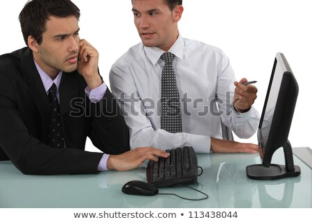 duo of businessmen working with computer Stock photo © photography33