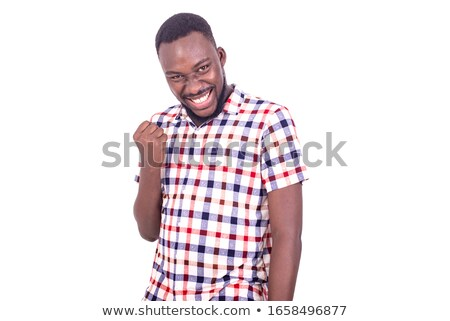 happy young man with hands on hips  Stock photo © feedough