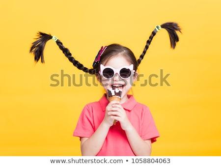 küçük · komik · çocuklar · portre · iki · gülümseme - stok fotoğraf © Lessa_Dar
