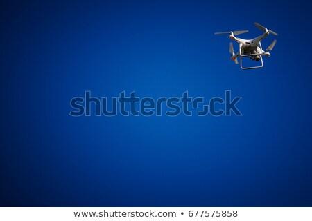 Biztonsági kamera kék ég égbolt város technológia kék Stock fotó © monticelllo