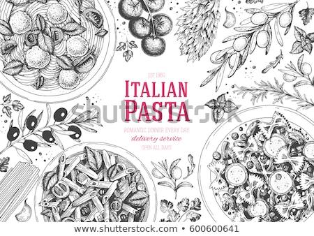 Cucina italiana vettore colore illustrazione pizza Foto d'archivio © Slobelix