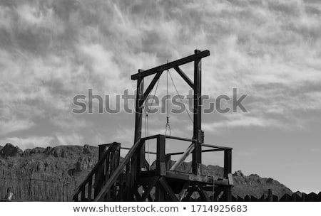 Stock photo: Gallows on white