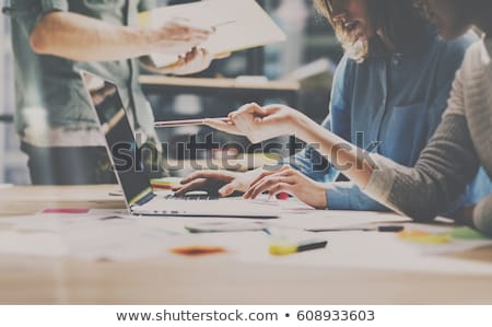 financière · loupe · apprentissage · graphique · document - photo stock © lightsource