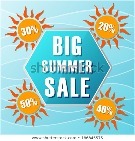 20 percentages off summer sale in label with sun stock photo © marinini