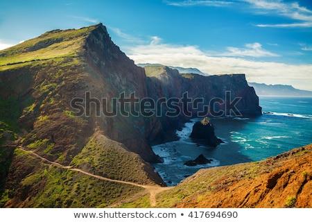 Sziklák Madeira tájkép nyugat part sziget Stock fotó © dinozzaver