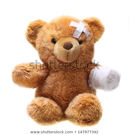 ill teddy bear stock photo © marcogovel