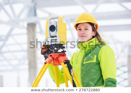 Female site surveyor Stock photo © photography33