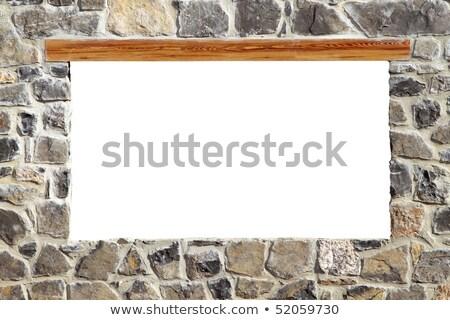 stone masonry wall window blank copyspace Stock photo © lunamarina