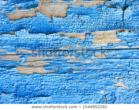 Blauw · verf · oude · houten · hout · achtergrond - stockfoto © leonardi