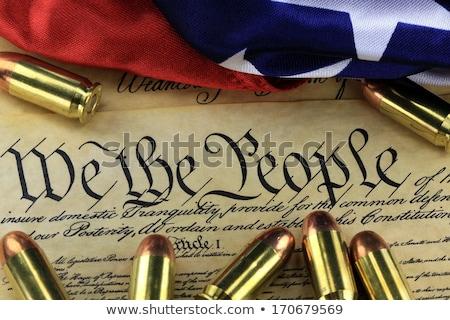 fegyver · alaptörvény · kézifegyver · másolat · Egyesült · Államok · amerikai · zászló - stock fotó © alptraum