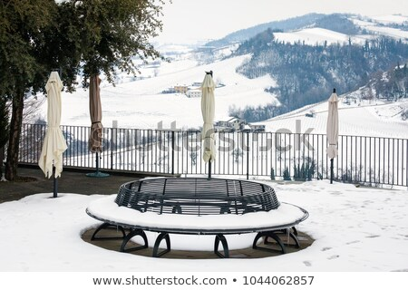 Benches over hills in Piedmont, Italy. Stock photo © rglinsky77