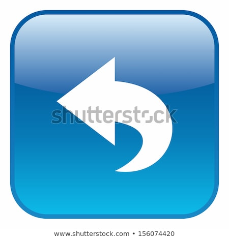 back arrow icon glossy blue button stock photo © faysalfarhan