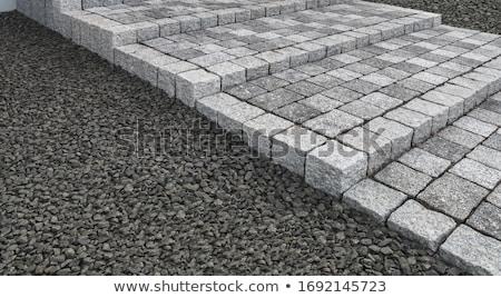 Stock fotó: Garden Granite Stone Steps