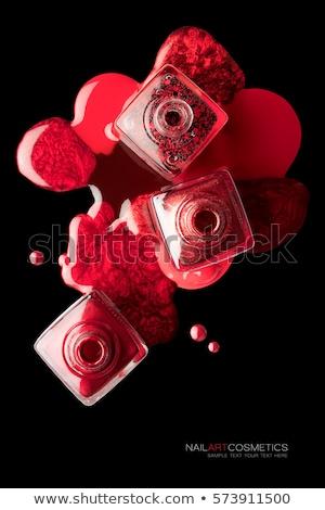 Rood nagellak witte kleur drop vrouwelijke Stockfoto © pxhidalgo