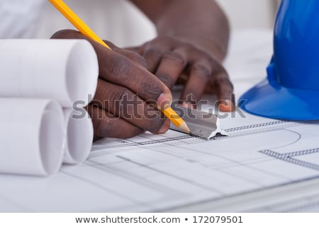 Travailleur de la construction pièce isolé blanche travaux signe Photo stock © Kirill_M