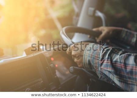 Trucker Vehicle on Road Stock photo © fouroaks