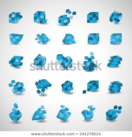 Puzzle kocka illusztráció üzlet bemutató számítógép Stock fotó © gladiolus