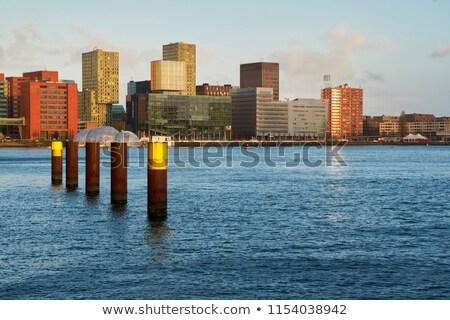 Liman gün mavi gökyüzü su spor okyanus Stok fotoğraf © gllphotography