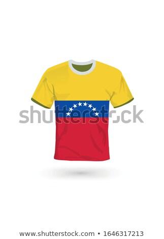 Bandeira Venezuela futebol equipe país Foto stock © MikhailMishchenko