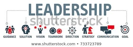 Irányítás útmutatás üzlet üzletember vezető arany Stock fotó © Lightsource