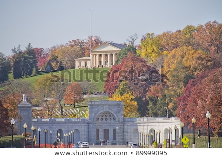 Entrance Gate - Arlington National Cemetery in Washington DC Stock photo © hanusst