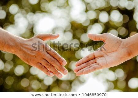 Confie me mulher terno fora mãos Foto stock © Lighthunter