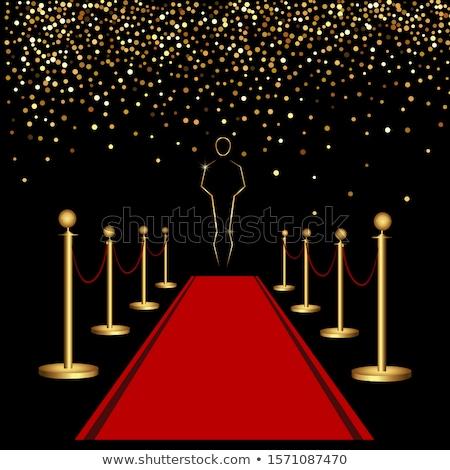 Vörös szőnyeg arany földgömb film csillagok mozi Stock fotó © adrenalina