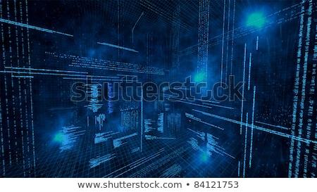 Сток-фото: сеть · безопасности · темно · цифровой · текста · синий