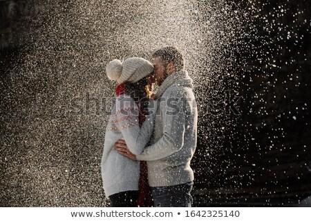 愛好家 冬 スタイリッシュ カップル 徒歩 市 ストックフォト © Kor