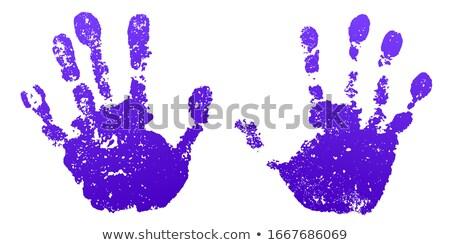 Old man purple hand print Stock photo © arlatis