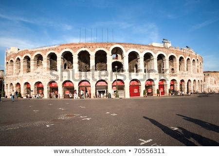 famous arena di Verona, the old roman amphi theater Stock photo © meinzahn