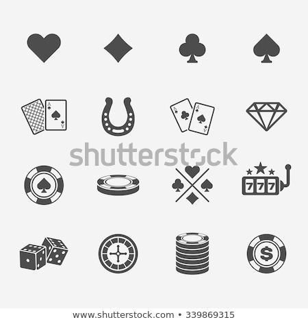 Kumarhane oyunları simgeler renkli çevrimiçi para Stok fotoğraf © sahua