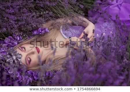 portrait of the blond pale flower queen stock photo © konradbak