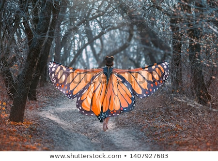 Relaxed woman with the huge wings Stock photo © konradbak