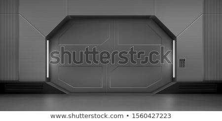 ржавые · металл · двери · блокировка · стены · текстуры - Сток-фото © ewastudio