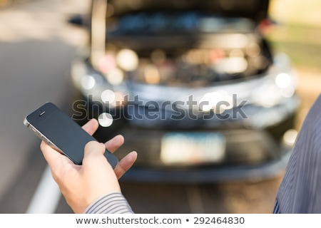 Female Driver Broken Down On Country Road Stock photo © monkey_business