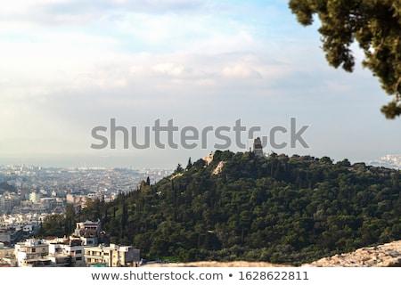Acrópole · noite · Atenas · Grécia · céu · pôr · do · sol - foto stock © andreykr