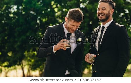 Legjobb férfi vőlegény esküvő szeretet boldog Stock fotó © monkey_business